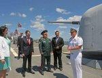 """Украинская делегация на американском эсминце """"Росс"""""""
