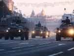 На улицы Киева выехала военная техника
