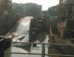 Индийский фрегат перевернулся в порту