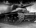 Опытная советская двуствольная САУ КВ-7