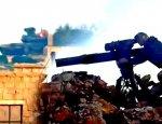 Сирийский Т-90 «принял на себя» 2 ракеты ПТРК: танк сгорел полностью