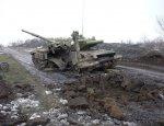 Украинская танковая колонна подорвалась на мине
