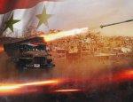 Сирийцы засняли точечную работу ракетной артиллерии на востоке Дамаска