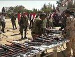Боевики сдают оружие в городе Сергая под Дамаском