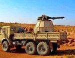 Двуствольное корабельное орудие АК-230 на шасси КамАЗа истребляет боевиков