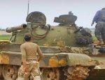 Боевики засветили захваченные у армии САР танки Т-62, Т-72 и броневик БМД-1