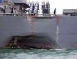 Танкером по военной мощи США: Видео с места аварии эсминца «Джон Маккейн»