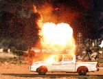 Сирийцы засняли испытание термобарической гранаты на шахид-мобиле боевиков