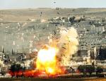 Бомбардировщики Асада разнесли колонну боевиков прямо на ходу