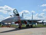Многоцелевой истребитель Су-35С на авиасалоне МАКС-2017 - фотообзор