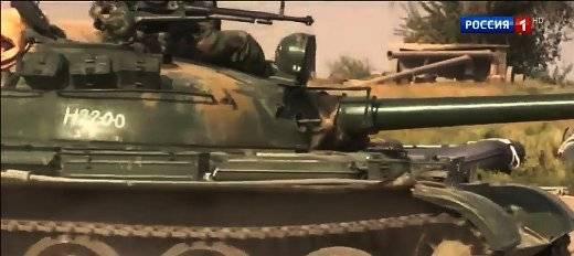 Евфрат форсировали недавно прибывшие в Сирию танки Т-62