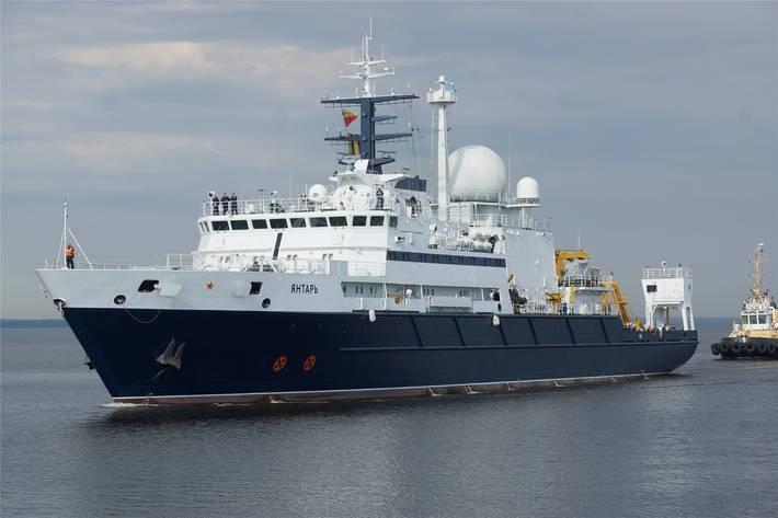 СМИ встревожены: секретный корабль «Янтарь» контролирует подводные кабели