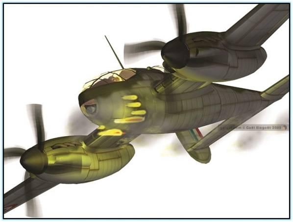 Проект тяжёлого истребителя CAPRA R.40 Франция