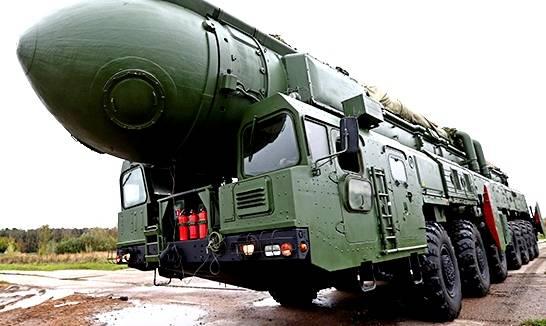 Ракетные войска провели пуск баллистической ракеты «Тополь»