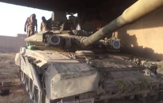 Уничтоженный в Сирии Т-90А