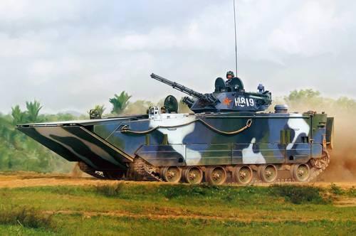 Китайские военные представили «самый быстрый» плавающий танк