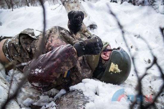 Ополченцы ЛНР забрали тела погибших бойцов ВСУ
