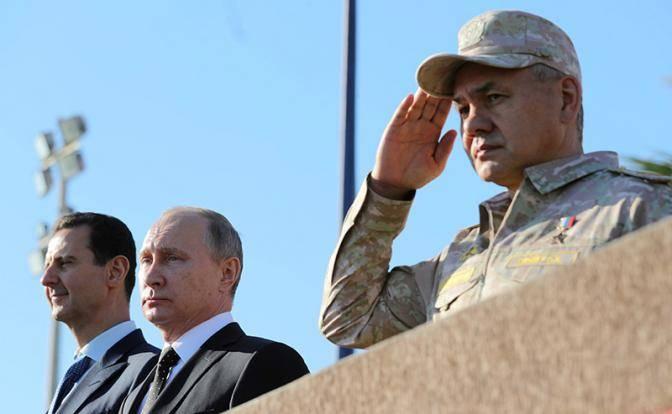 Российское знамя над сирийским «рейхстагом»