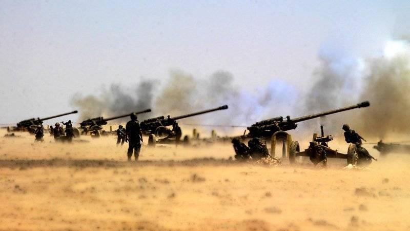 САА поливает «огненным дождем» боевиков в Дамаске