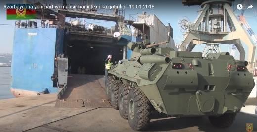 Азербайджан получил новую партию российских БТР-82А
