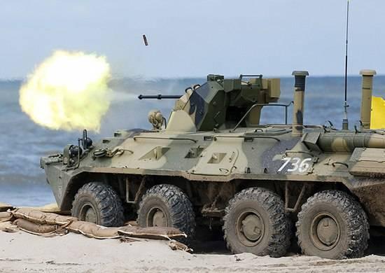 Морпехи КФ получат 100 БТР-82АМ с 30-мм пушкой