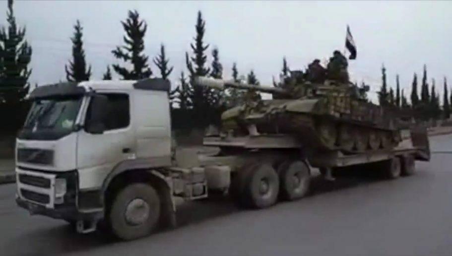 Переброска в Дамаск: бойцы САА показали километровый конвой 62-й бригады