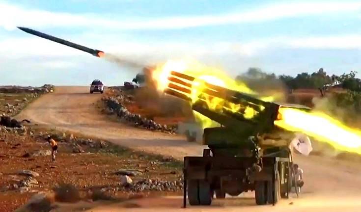 Правительственные силы Сирии из РСЗО накрыли турецкую базу в Алеппо