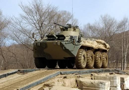 Морские пехотинцы ТОФ обкатывают новые бронетранспортёры БТР-82А