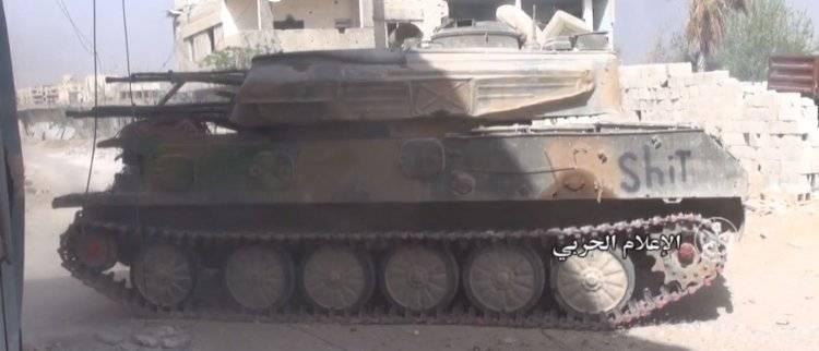Финальный удар по котлу в Дамаске: бойцы САА готовят Т-72, БМП-2 и «Шилки»