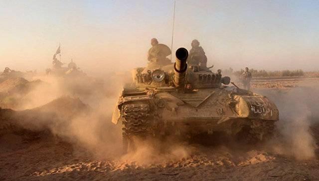 Ключевой центр снабжения взят: САА захватили танки и другие трофеи боевиков