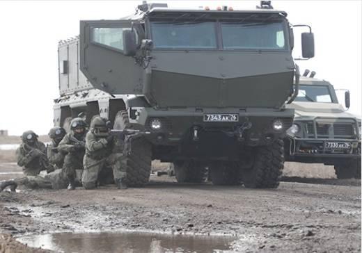 Спецназ ЦВО впервые применил бронеавтомобили
