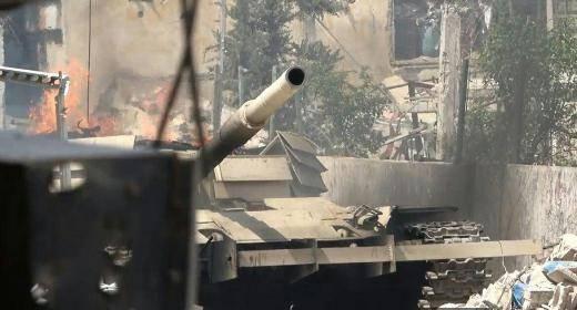 В Сирии сгорел еще один знаменитый Т-72 с