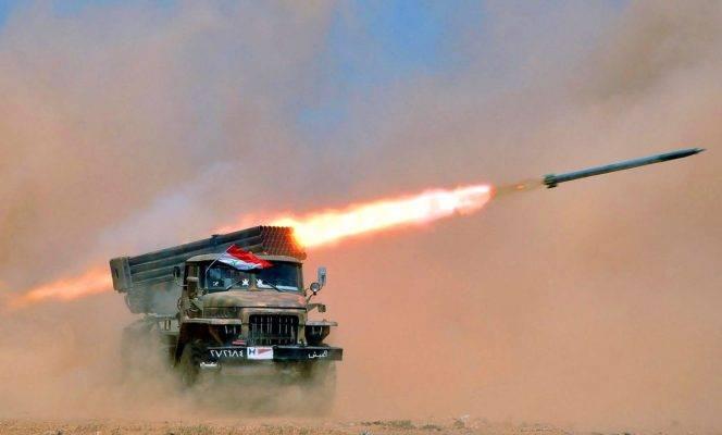 Работа 11-ой танковой дивизии: САА накрыла ракетами боевиков в Хаме