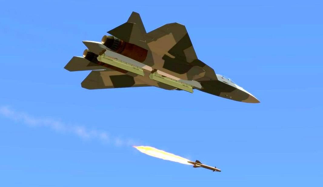 Су-57 в Сирии запустил новейшие ракеты