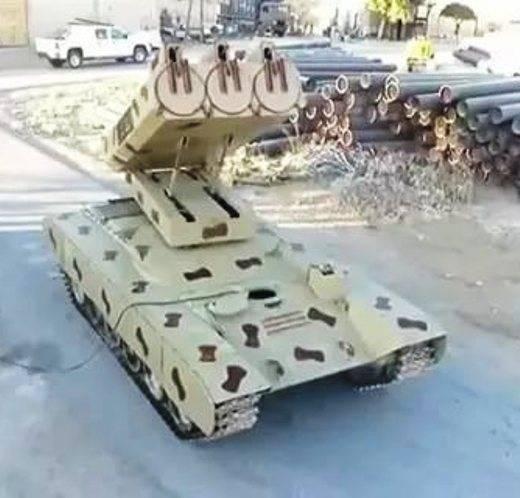 Сирия: наступление Т-90 поддержит самая мощная РСЗО