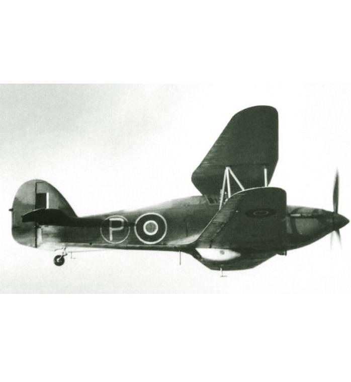 Экспериментальный самолет Hawker-Hillson FH.40 Hurricane. Великобритания