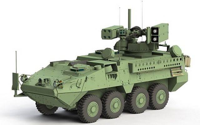 Американцы скрестят ПВО/ПТРК на базе Stryker